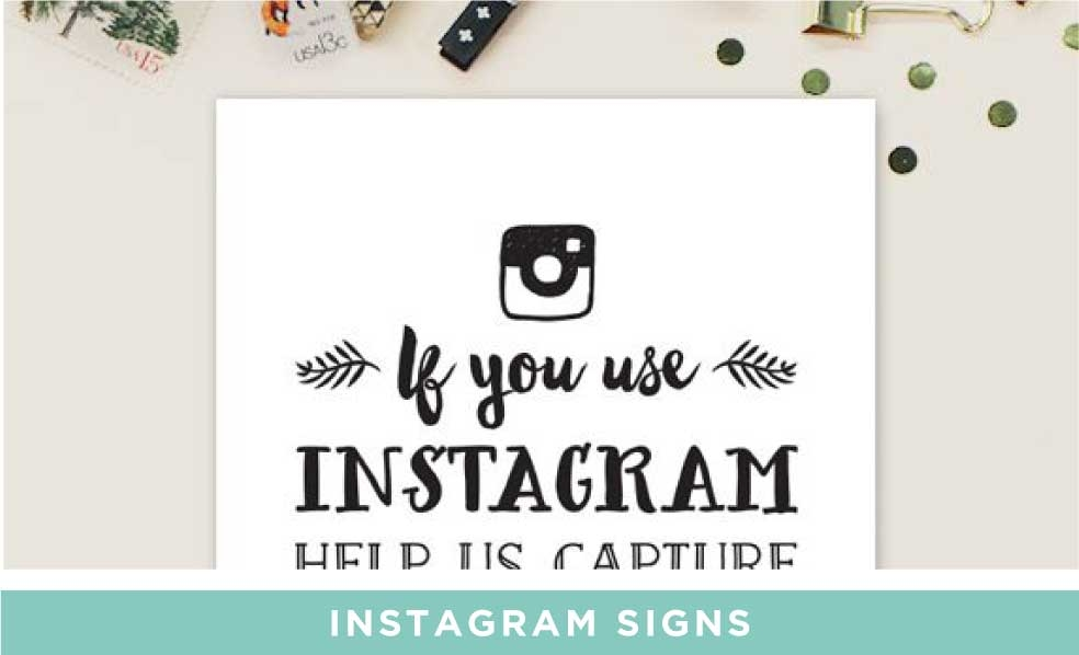 Free Printable Instagram Hashtag Signs