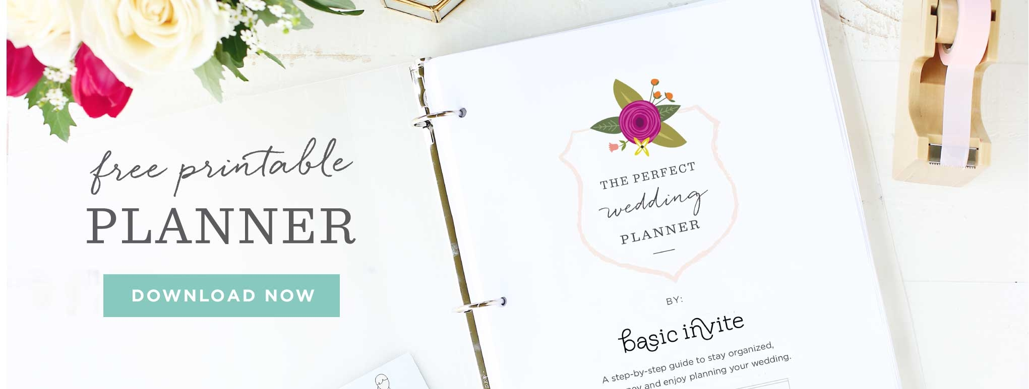 Free downloadable wedding planner printable.