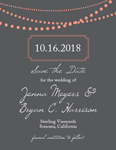 String Light Save The Date Cards