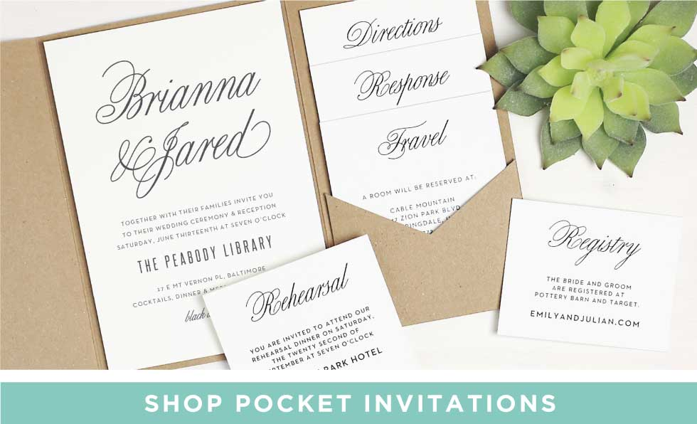 Basic invite wedding invitations wedding enclosures wedding pocket wedding invitations stopboris Choice Image